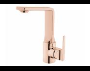 A4247026EXP - Suit Basin Mixer, With Swivel Spout, Copper