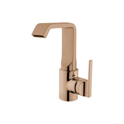 Suit Basin Mixer, With Pop-Up, Copper