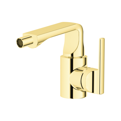 Suit Bidet Mixer, With Pop-Up, Gold