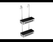 "A44189 - ""Sponge basket (double, with hanger)"""