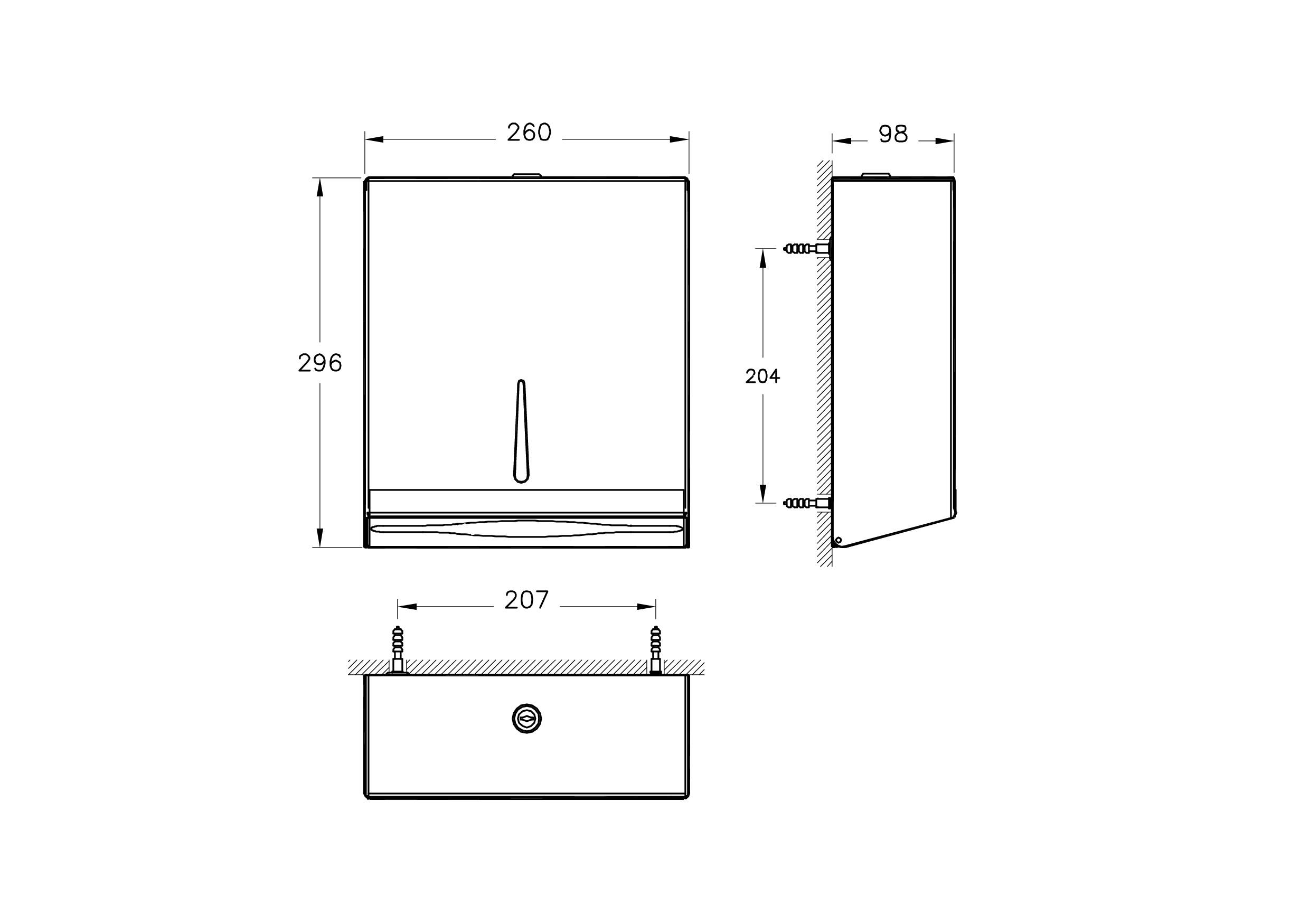 Arkitekta Paper Towel Dispenser Wall Mounted Vitra Uk