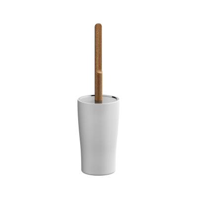 Eternity WC Brush Holder - White / Shinny Chrome