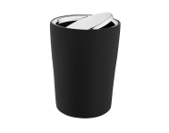 A4487558EXP - Eternity Trash Bin - Black / Shinny Chrome