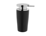 A4487658EXP - Eternity Liquid Soap Dispenser - Black / Shinny Chrome