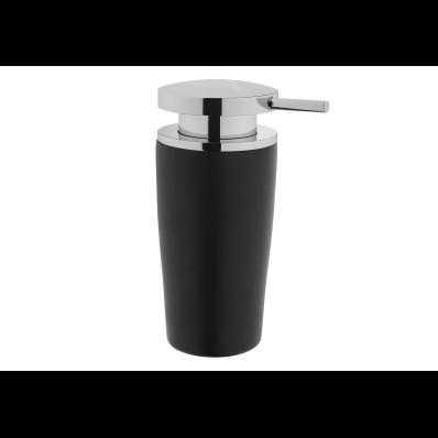 Eternity Liquid Soap Dispenser - Black / Shinny Chrome