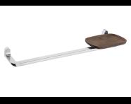 A44879EXP - Eternity Long Towel Holder with Shelf- Shinny Chrome