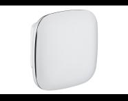 A44880EXP - Eternity Medium Bathrobe Holder (Square) - Shinny Chrome