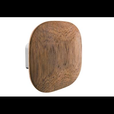 Eternity Large Bathrobe Holder (Square - Wooden) - Shinny Chrome