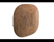 A44881EXP - Eternity Large Bathrobe Holder (Square - Wooden) - Shinny Chrome