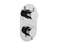 A47024IND - Aquatech Built-in Thermostatic Bath/Shower Mixer (180° Turn - 1+3 Way Diverter)