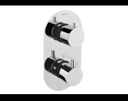 A47025IND - Aquatech Built-in Thermostatic Bath/Shower Mixer (180° Turn - Klasik Diverter)