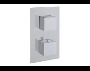 A47163 - Aquaheat S2 Ankastre Banyo/Duş Bataryası  (2 Yollu Yönlendirici) , Krom