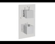 A47164 - Aquaheat S2 Ankastre Banyo/Duş Bataryası (3 Yollu Yönlendirici)