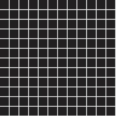 2.5x2.5 Miniworx RAL 0001500 Black Mosaic Glossy