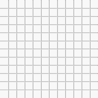 2.5x2.5 Miniworx RAL 9016 White Mosaic Glossy