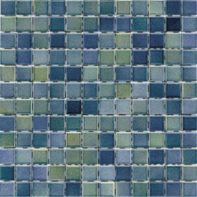 2.5x2.5 Colorline Mosaic Green - Blue Glossy