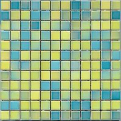 2.5x2.5 Colorline Mosaic Yellow - Blue Glossy
