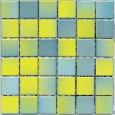 5x5 Colorline Mosaic Yellow - Blue Matt