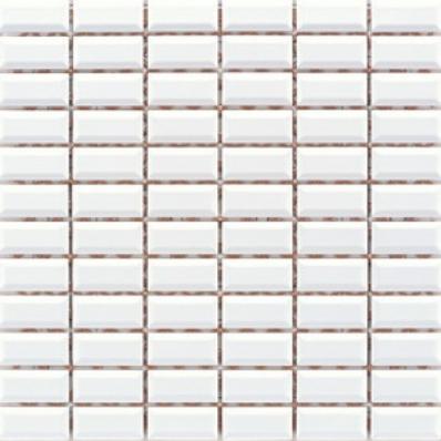 2.5x5 Metro Tiles Mosaic White Glossy