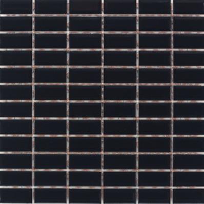 2.5x5 Metro Tiles Mosaic Black Glossy
