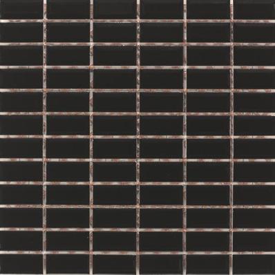 2.5x5 Metro Tiles Black Mosaic -
