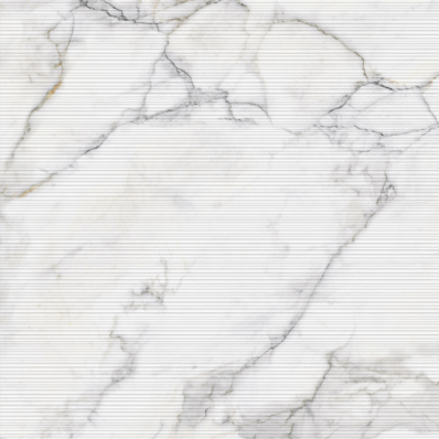 80X80 Calacatta Rigato Decor White Matt