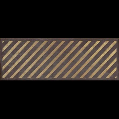 25x70 Clayworx Çizgi Altın Decor Antrasit Mat