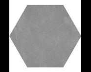 K944895R - 60X60 Tech-Slate Altıgen Random Dekor Koyu Gri