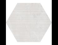 K944897R - 60X60 Tech-Slate Altıgen Rigato Dekor Beyaz