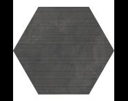 K944899R - 60X60 Tech-Slate Altıgen Rigato Dekor Antrasit
